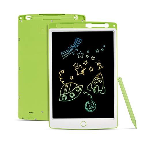 Funkprofi Bunte 10 Zoll LCD Writing Tablet mit Anti-Clearance Funktion und Dicke Linien, LCD Schreibtafel, Grafiktabletts Schreibplatte Papierlos für Schreiben Malen Notizen als Geschenk (Grün)