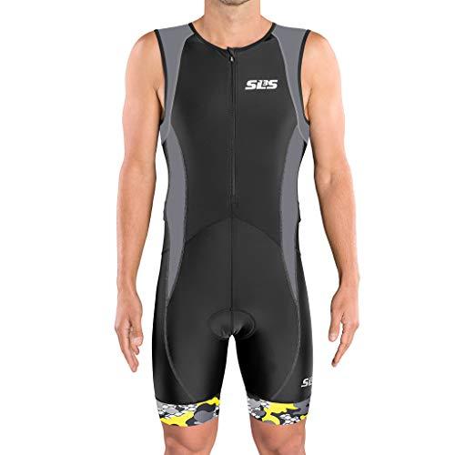 SLS3 Tri Suit Men – Men`s Tri Suit - Men Triathlon Suit Trisuit FX Black/Gray
