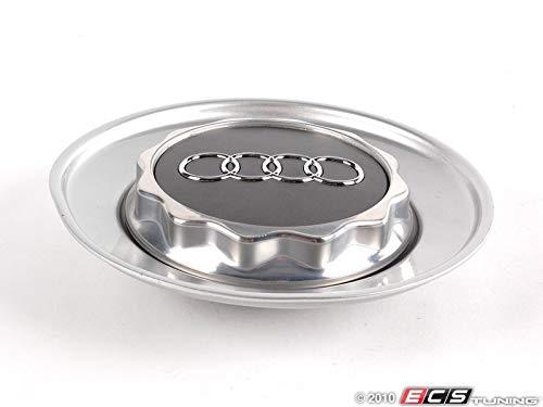 Genuine Wheel Center Hub Cap Avus Silver compatible with Audi A6 C5 C6 1998-2009