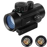 panthem RD40 Red Dot Grün Dot Zielfernrohr Red Dot Visier 11MM   22MM Schiene Visier Leuchtpunktvisier Rotpunktvisier, HD Reflexvisier Zielfernrohr Rot Grün Punkt Sight mit Halterungen