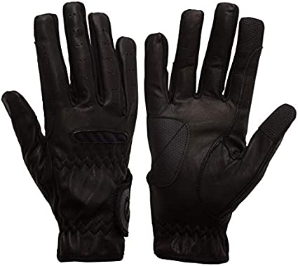 eGLOVE eQUEST GripPro Leather Touchscreen Horse Riding Gloves