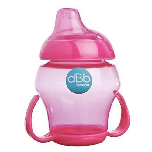 dBb Remond 215008 - Bicchiere con manici senza bisfenolo A, colore rosa semitrasparente