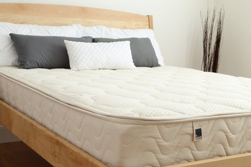 Natural Latex Mattress. 10' Dunlop Natural Latex Mattress with Zipper Cover Made with Wool and Organic Cotton. Made in The U.S.A. (Queen, Medium)