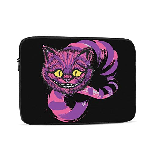 The Cheshire Cat Waterproof Computer Bag Case Laptop Tablet Tote Travel Briefcase 10 inch Black