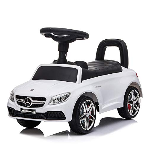 DEVESSPORT - Correpasillos - Mercedes C63 AMG Coupe - Ideal para bebés de 1 a 3 años - Blanco