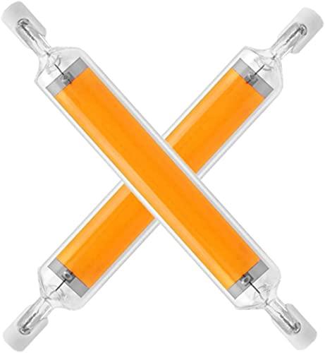 R7S LED bombilla de luz 118 mm Dimmable 20W Bulbos LED de doble extremo de 20W 120 V J Tipo R7S Luz de inundación 200W Reemplazo de halógeno J118 T3 Bombillas de mazorca dimmable de 360 ° Luces de p