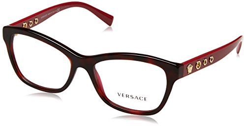 Versace VE3225 Eyeglass Frames 5184-54 - 54mm Lens Diameter Havana Bordeaux