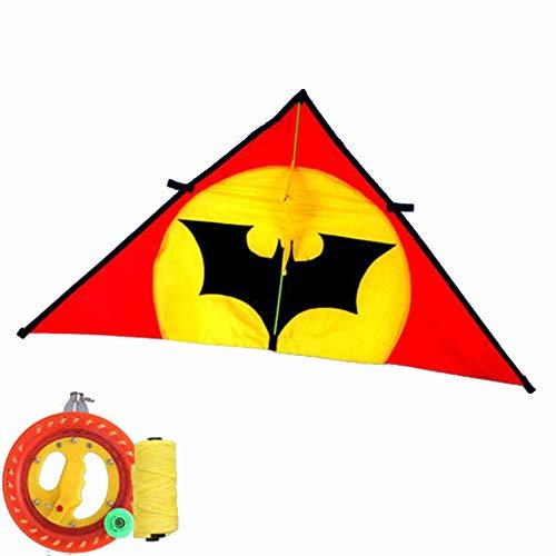 Kite driehoek lange staart paraplu doek grote volwassen met volledige haspel
