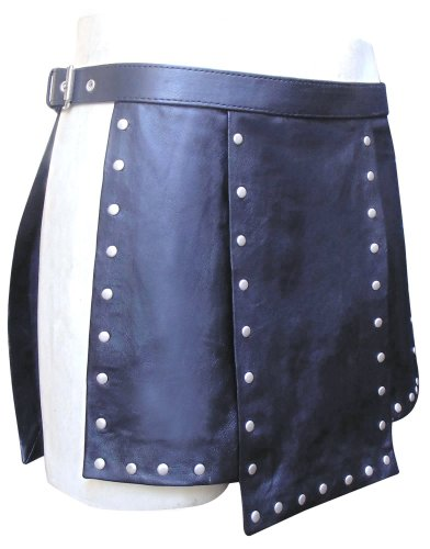 Bespoke Tailored Leather Herren Anzug schwarz schwarz, schwarz