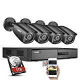 SANNCE 8 Channel 1080P Outdoor CCTV Camera System, 4pcs 1080P Weatherproof Home Security