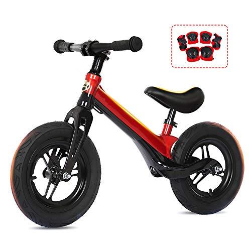 LYXCM Bicicleta Sin Pedales Ultraligera, Bicicleta De Equilibrio Sin Pedal para Niños De 2 A 5 Años Asiento Ajustable En Altura Material De Aleación De Magnesio