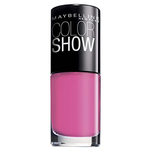 Maybelline New York Make-Up Nailpolish Color Show Nagellak/Ultra glanzende kleurlak in fel roze, 1 x 7 ml 7 ml Pink Boom