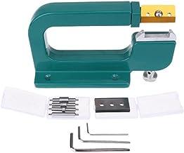 XiaoG Aluminium lederen splitter gereedschap, paring apparaat lederen schering leercooters snijgereedschap (Color : Green)