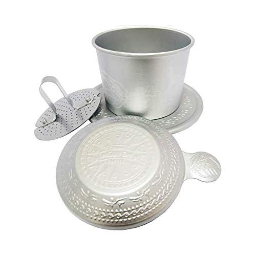 Sits Manuelle Kaffeemühle - Filterkaffee-Hine-Guss auf die Kaffeemaschine setzen Filterkaffee-Hine-Fondue-Tasse/braune Filtertasse Aluminiumprodukte