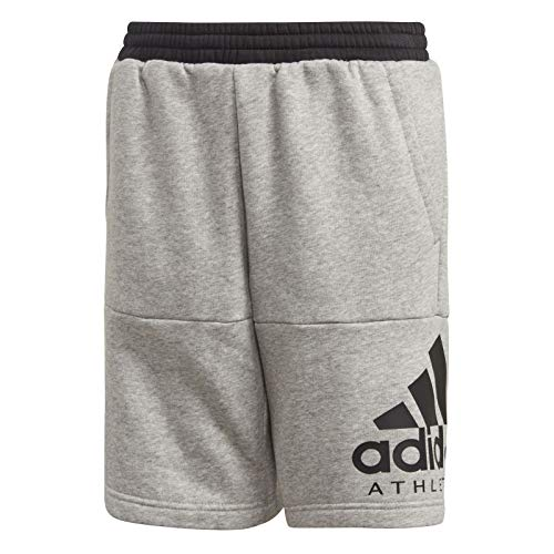 adidas Jungen Sports ID Short 1/4, Grey Heather/Black, 128