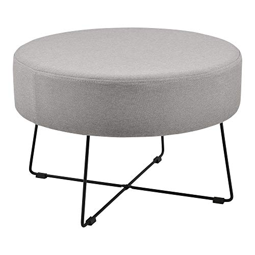 [en.casa] Mesa de Centro Mesa Auxiliar Redonda 40 x 60 cm Mesa pequeña Mesa de café y té Gris y Negro