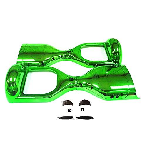 Carcasa Wintech de 16,51cm de plástico cromado para hoverboard eléctrico, verde