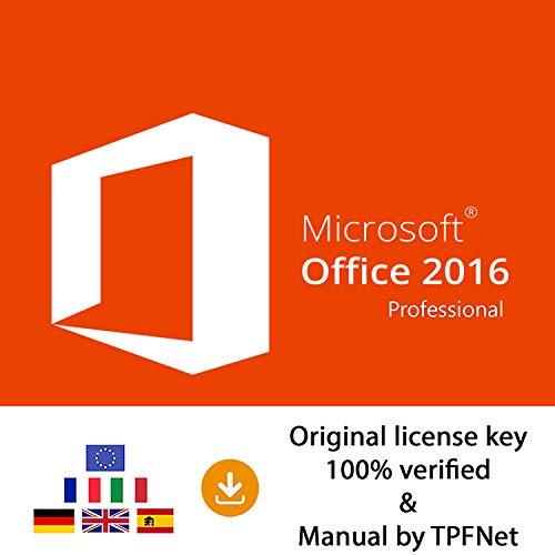 MS Office 2016 Professional Plus 32 Bit & 64 Bit - Original License Key by Post and E-mail + TPFNet Guide - Shipping Maximum 60min