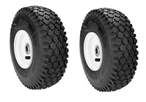 "Lawn Mower Parts 7052268/7052267 / 7050618 Set of 2 of Front Wheels for Snapper Fits 25"", 26"", 28"", 30"", 33"" Decked Rear Engine Rider + (Free Two E-Books)"