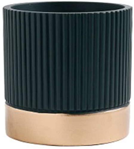 ZW18U Cerámica Cemento de cerámica Flor Pot Suculenta Decoración de Escritorio Mini Maceta Decoración de la Flor Potes para Plantas y Flores (Color: ARRIA, Tamaño: 11.5x11.5x12cm) Decoración