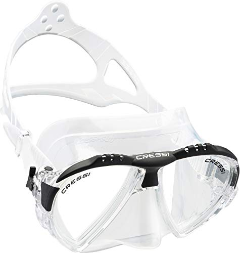 cressi Matrix Tauchen Schnorcheln Maske, Transparent/Schwarz, Einheitsgröße