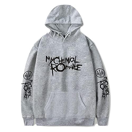 Sudadera Romance Hoodies Men and Women Black Parade Punk Rock Hoodie Sweatshirt Fall Winter Jacket Coat Oversize Clothes XXXL Gray