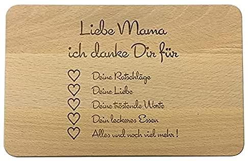 Tabla de desayuno de madera, tabla de pan con grabado, regalo para la familia, regalos para mamá, idea de regalo para madre, tabla de desayuno