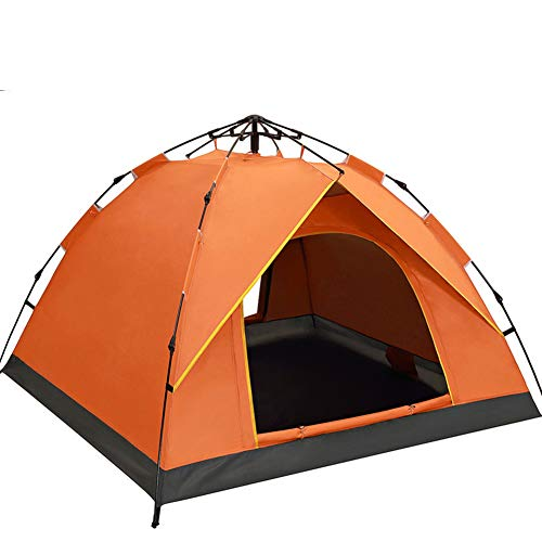 DULPLAY 3-4 people Rainproof Camping tent, Dome tent Waterproof Ventilated Large space Field camping -I 210x200x130cm(83x79x51inch)