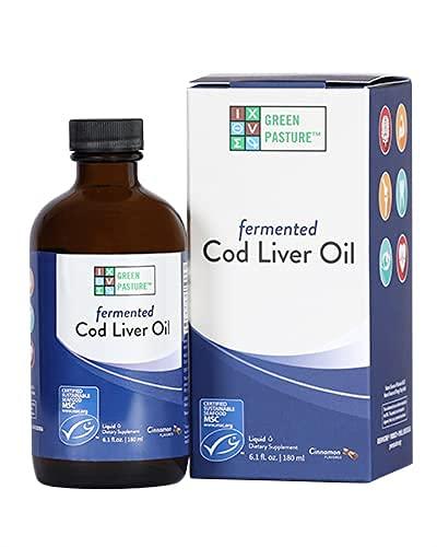 Green Pasture Fermented Cod Liver Oil Liquid, Cinnamon Tingle, 6.1 Fl Oz