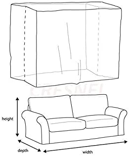STARTWO Furniture Cover Plastic Bag Plastic Couch Cover Heavy Duty Water Resistant Thick Clear | Sofa Slipover for Mo...