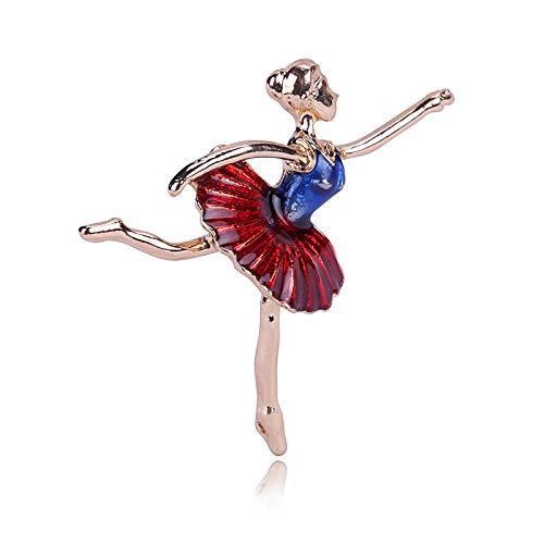 Zxx17 Chica gimnástica Ballet Bailarina Broche Dibujo Aceite Pin