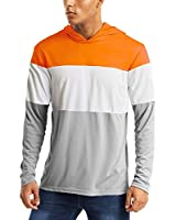Rash Guard for Men Long Sleeve Shirts for Men Dry Fit with Hoodie Runnig Shirts Mens Hiking Shirts for Men Workout Shirts UV Fishing Shirts