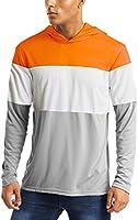 MAGCOMSEN Men's Hooded UPF 50+ Sun Protection T Shirts Long Sleeve Athletic Fishing Shirts Rash Guards