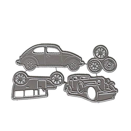 qingqingR 1 Satz Kohlenstoffstahl Auto Stanzen Prägeschablone Vorlagen Form Papier DIY Kunst Handwerk Sammelalbum Lesezeichen Karte Decor