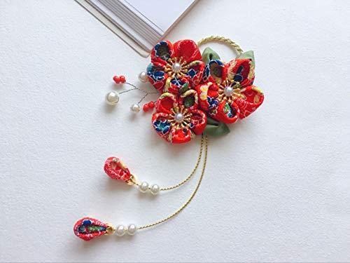 Sakura Kanzashi Japanse haarclip, Kanzashi Stof Roze Bloem, Haar Clips voor Huwelijk, Haar Clip voor Meisjes, Japanse Geisha Haar ornamenten