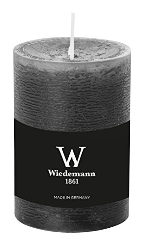 Wiedemann Marble Kerze durchgefärbt ASF, Wachs, Grau, 10 x 6.8 cm, 8-Einheiten