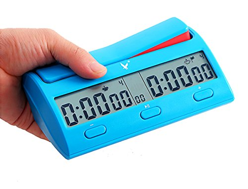 CaLeQi Digitale Multifunktions -Display Schachuhr Count Up Down Timer elektronische Brettspiel -Wettbewerb Clock Pro(Mit Branded Gift Box)