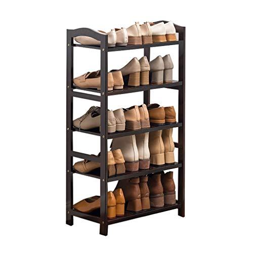 Zapateros Bamboo Multi-Layer Shoe Rack Simple Rack de Zapatos económico Corredor Baño Almacenamiento Rack for el hogar Armario Organizador (Color : C, Size : S)