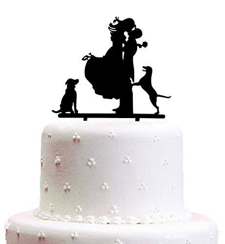 Decoración para tarta de boda, Él y Ella, acrílico duro