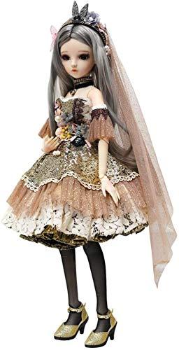 1/3 BJD mueca 60 cm 18 articulaciones de bola muecas palacio arte con trajes completos conjuntos de vestido medias zapatos peluca maquillaje nias disfraz juguete