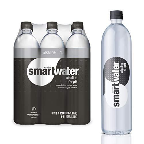 smartwater Alkaline Water 9+Ph, Vapor Distilled Premium Water, 33.8 Fl Oz (Pack Of 6)