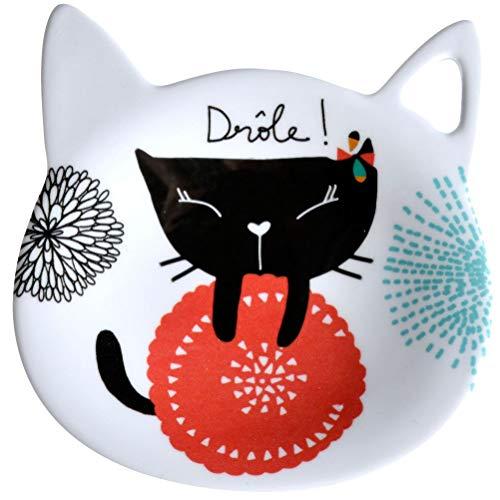 Piattino per bustina da tè, motivo: gatti