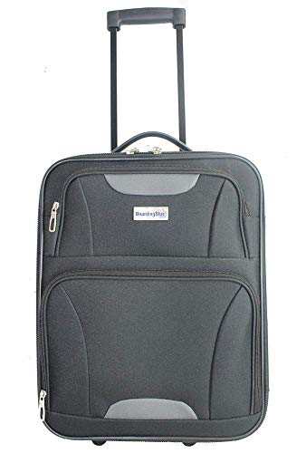 18' Personal Item Under Seat Basic Luggage for Spirit, AA, Frontier airlines (Black)