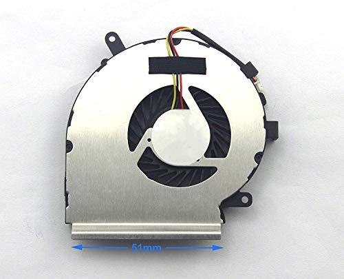3CTOP CPU Ventilador de refrigeración para portátil GE72 2QC 2QE 2QF 2QL 6QC 6QD 6QE 6QF 6QL