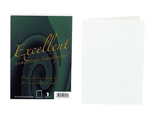 Rössler 20221711 - Excellent - Doppelkarten A6, 25 Stück, weiß