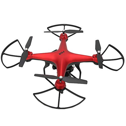 FastUU Drones with Camera for Adults and Kids, 4K High-Resolution RC Helicopters WiFi Mini Drone RC Quadcopter, Headless Mode, 2.4 GHZ Anti-Jamming, LED Lights, One-Click Return, Altitude Hold(red)