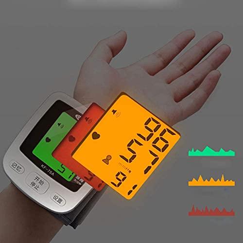 Sphygmomanómetro de muñeca automática, pulsera esfigmomanómetro electrónica instrumento de medición inteligente casero anciano automático de alta precisión manómetro
