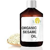 Aceite de Sésamo Orgánico Desodorizado Ayurveda 100% Natural Aceite de Masaje Cara y Cuerpo (1000 ml)