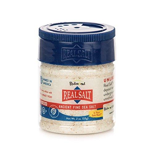 Redmond Real Salt, Nature's First Sea Salt, Fine Salt, 2 Ounce Shaker (1 Pack)