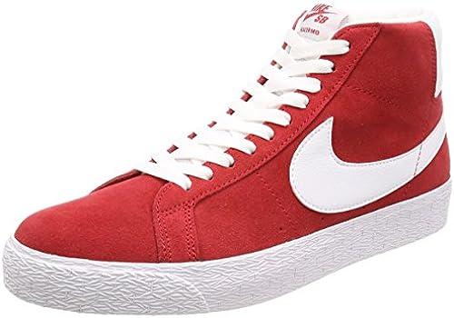 Nike SB Blazer Zoom Mid University rot Weiß